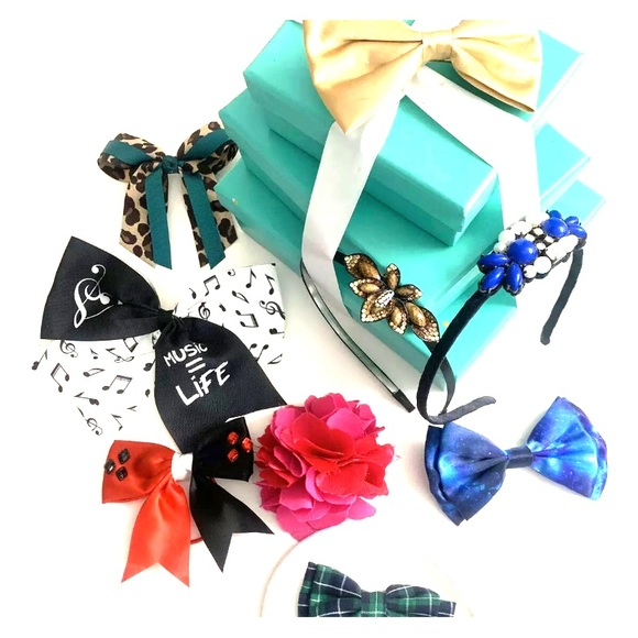 Abercrombie & Fitch Other - Assorted Lot of Girl Hair Bows Headbands Music